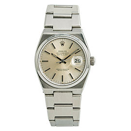 Rolex Datejust 17000 Mens OysterQuartz Watch Silver Dial Stainless Steel 36mm