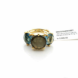 Ippolita Rock Candy Gelato 3 Stone 18k Yellow Gold Cocktail Ring Size 7