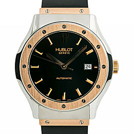 Hublot Classic Fusion B1915.7 Mens Automatic Watch 18k Two Tone Rose Gold 42mm
