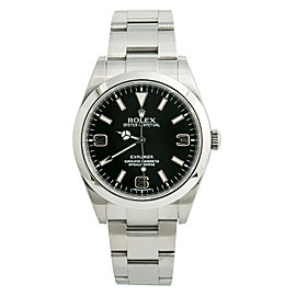 Rolex Explorer 214270 Mens Automatic Watch With Box & Papers Black Dial SS 39mm