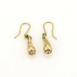 Tiffany & Co. Peretti Tear Drop Hook Dangle 18k Gold Earrings