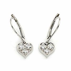 Tiffany & Co. Diamond Platinum Hearts Dangle Earrings