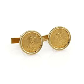 1999 1/10oz 22k American Eagle Gold Coin & 14k Gold Cufflinks