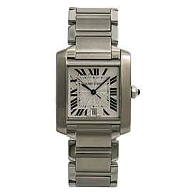 Cartier Tank Francaise Large 2302 W51002Q3 Unisex Automatic Watch Stainless 28mm