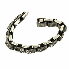 David Yurman 925 Sterling Silver Men's Waves Link Chain Bracelet Size 8""