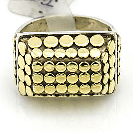 John Hardy Dot Ring in 18k Gold and Sterling Silver