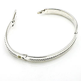 David Yurman Men's Cable Bangle Bracelet with Gold XL