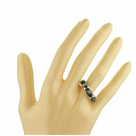 Marco Bicego 3 Blue Topaz 18k White Gold Band Ring