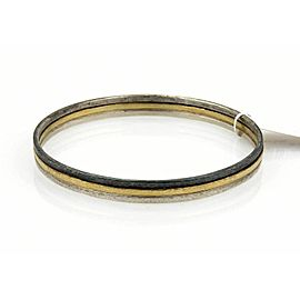 "Gurhan Skittle 24k Gold & Sterling Silver Bangle 6.5"""