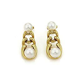 Tiffany & Co. Pearls 18k Yellow Gold Fancy Graduated Link Dangle Earrings