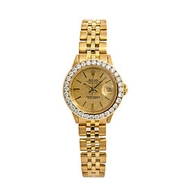 Rolex Datejust President 6916 Jubilee Womens Automatic Gold Watch 2.30CT 26mm