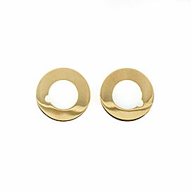 Dinh Van Cible Collection 18k Yellow Gold Thin Disc Stud Earrings