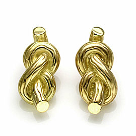 Angela Cummings 18k Yellow Gold Sailor Knot Clip On Earrings