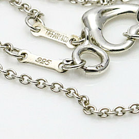 Tiffany & Co. Elsa Peretti Sterling Silver 5 Open Hearts Necklace