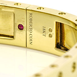 Roberto Coin 18k Yellow Gold Pois Moi Two-Row Diamond Bangle