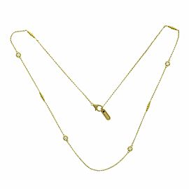 Roberto Coin 18K Yellow Gold 0.24 CT Diamond Long Station Necklace Size