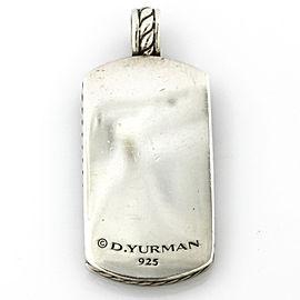 David Yurman Sterling Silver Pietersite Tag Pendant