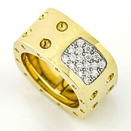 Roberto Coin 18k Yellow Gold Pois Moi Diamond Band Ring