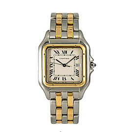Cartier Panthere Jumbo 187957 Unisex Quartz Watch 18k Two Tone 29mm