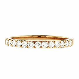 0.33 CT Natural Diamonds G SI1 in 14K Rose Gold Half Wedding Band Ring
