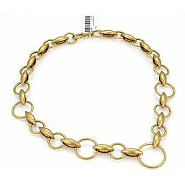 Gurhan WHEATLA 24k Gold Hammered Circles & Wheat Link Necklace