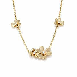 Van Cleef & Arpels Frivole 9 Flower Diamond 18k Yellow Gold Necklace