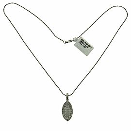 14K White Gold 3.20 CT Round & Princess Diamonds Slice Pendant Necklace 16""