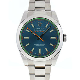 Rolex 116400GV Milgauss Blue Dial Stainless Steel Automatic Watch