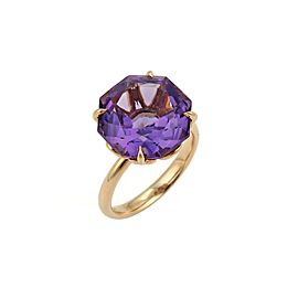 Tiffany & Co. Sparklers Amethyst 18k Rose Gold Ring Size 6