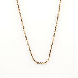 Tiffany & Co. Classic 18k Rose Gold Link Chain