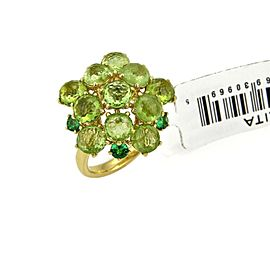 Ippolita Lollipop Peridot & Tsavorite 18k Yellow Gold Ring