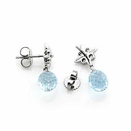 Tiffany & Co. Diamond Aquamarine Platinum Floral Dangle Earrings