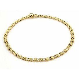 Tiffany & Co. Signature 1.00ct Diamonds 18k Yellow Gold Necklace