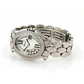 Chopard Happy Sport Oval 7 Floating Diamonds Ladies Stainless Steel Wrist Watch