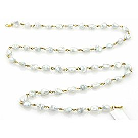"""Gurhan Chains 24k Gold & Baroque Pearls Necklace 32.5"""""""