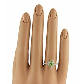 Damiani Bliss Green Garden Peridot & Diamond Ring in 18k White Gold