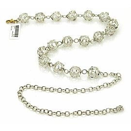 Gurhan Champagne Topaz Sterling Cage Balls Fancy Adjustable Necklace