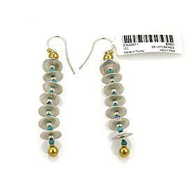 Gurhan Turquoise Sterling 24k Gold Multi Disc Dangle Earrings