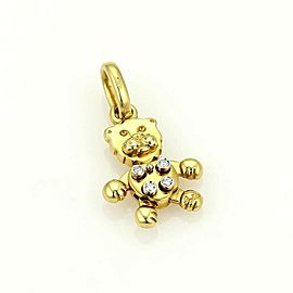 Pomellato Diamond Animated Lion 18k Yellow Gold Pendant Charm