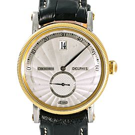 Chronoswiss Delphis Jump Hour CH1421R Mens Automatic Watch 38mm