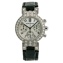 Harry Winston Premier Womens Watch Diamond 18K White Gold W/Box Papers