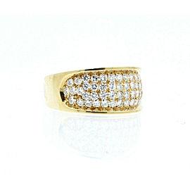 ESTATE 14k White Gold 2.5ct Diamond Cluster Ladies ring 10.7 Grams Size 11