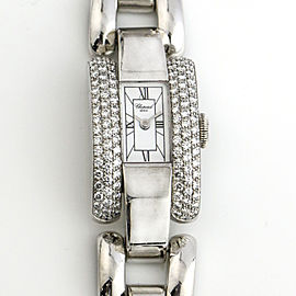 Chopard Ladies 18k White Gold Watch with Diamonds 433-1