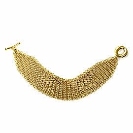 Tiffany & Co. Peretti Sevillana 18k Yellow Gold Mesh Chain Toggle Bracelet