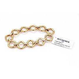 Bucherer 18k Pink Gold Open Link Bracelet