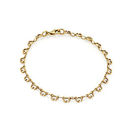 Gucci Logo G links 18k Yellow Gold Bracelet