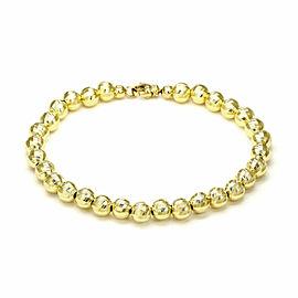 Diamond Cut Illusion 14k Yellow Gold Bead Bracelet Italy
