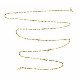 Tiffany & Co. Peretti Diamond By The Yard 18k Gold Toggle Necklace