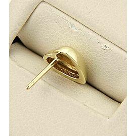 Tiffany & Co. 18k Yellow Gold Heart Stud Earrings