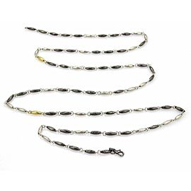 Gurhan ORB Hammered Sterling Silver & 24k Gold Lentil Link Long Necklace